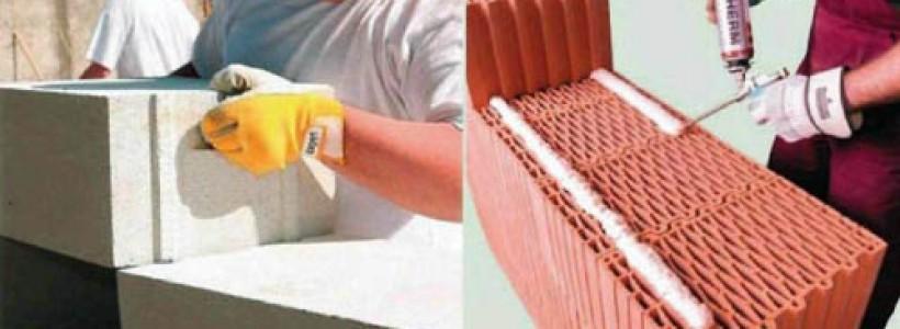 Однослойные стены из керамических блоков и газобетона