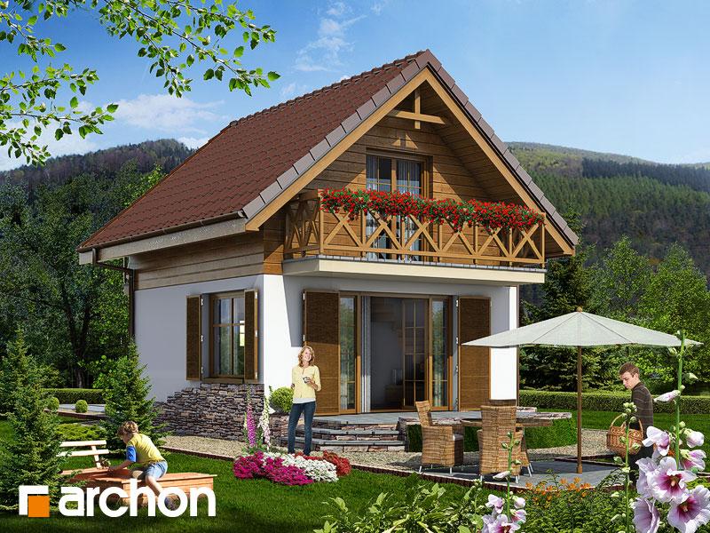 Проект дома из кирпича площадью 44 м2