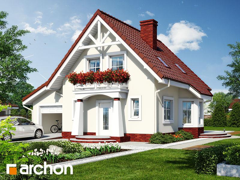 Проект дома из поризованных блоков площадью 74.8 м2