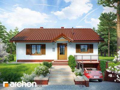 Проект дома из керамических блоков площадью 76.6 м2