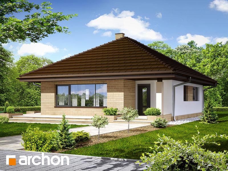 Проект дома из поризованных блоков площадью 73.69 м2