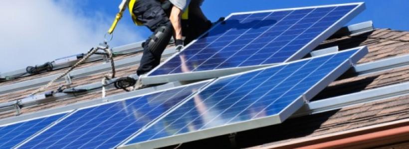 Установка солнечных батарей на крыше цена
