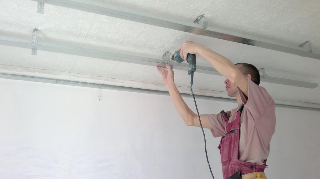Покрытие потолка гипсокартоном своими руками