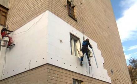 Наружное утепление стен квартиры пенопластом
