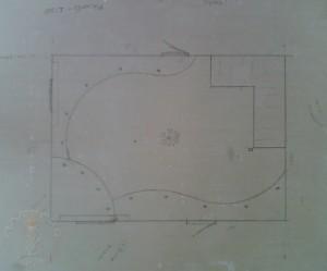 Эскиз трехуровневого потолка из гипсокартона