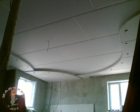Как потолок сделать ровным видео
