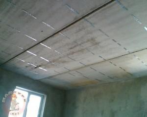 Разметка подвесов потолка из гипсокартона