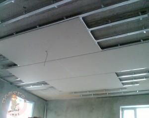 Приступаем к монтажу потолка из гипсокартона