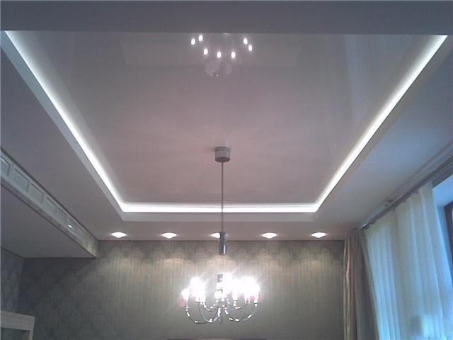 Подсветка из светодиодов на натяжном потолке