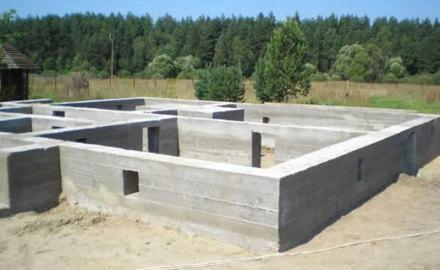 бетонные работы фундаменты