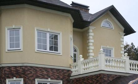 Оформление фасада частного дома