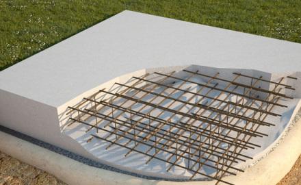 Армирование фундамента с помощью металлических арматурных прутьев
