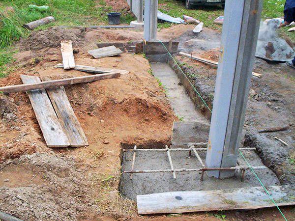 Как залить столбы из бетона