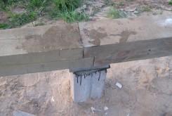 Обвязка фундамента брусом
