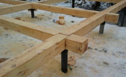 Обвязка свайного фундамента брусом: грамотное начало возведения дома