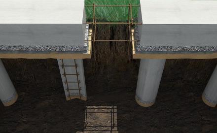 Ростверк – верхняя часть свайного фундамента, распределяющая нагрузку на несущие элементы здания.