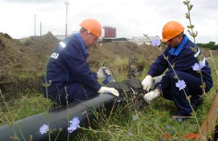 Строительство газопровода и водопровода