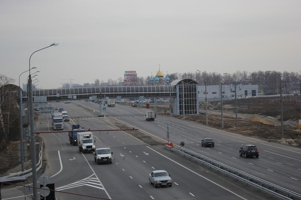 Пешеходный переход в районе Дягилево