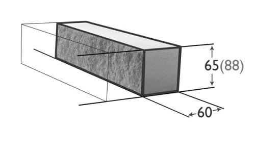 Схема полнотелого кирпича.
