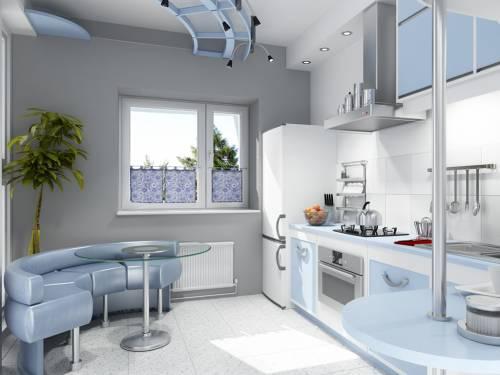 ремонт большой кухни