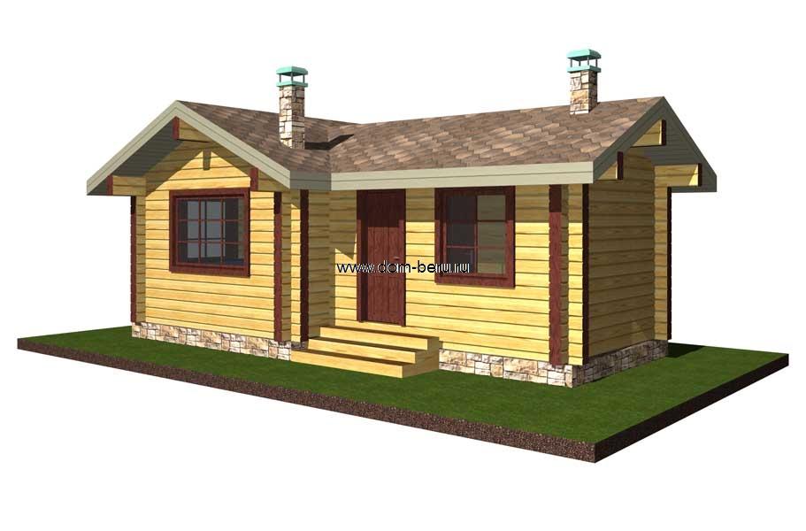 Дома деревянные проекты 6х8 [2]