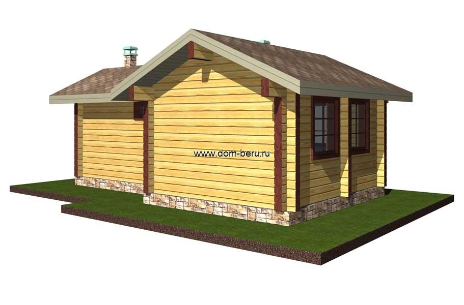 Дома деревянные проекты 6х8 [3]