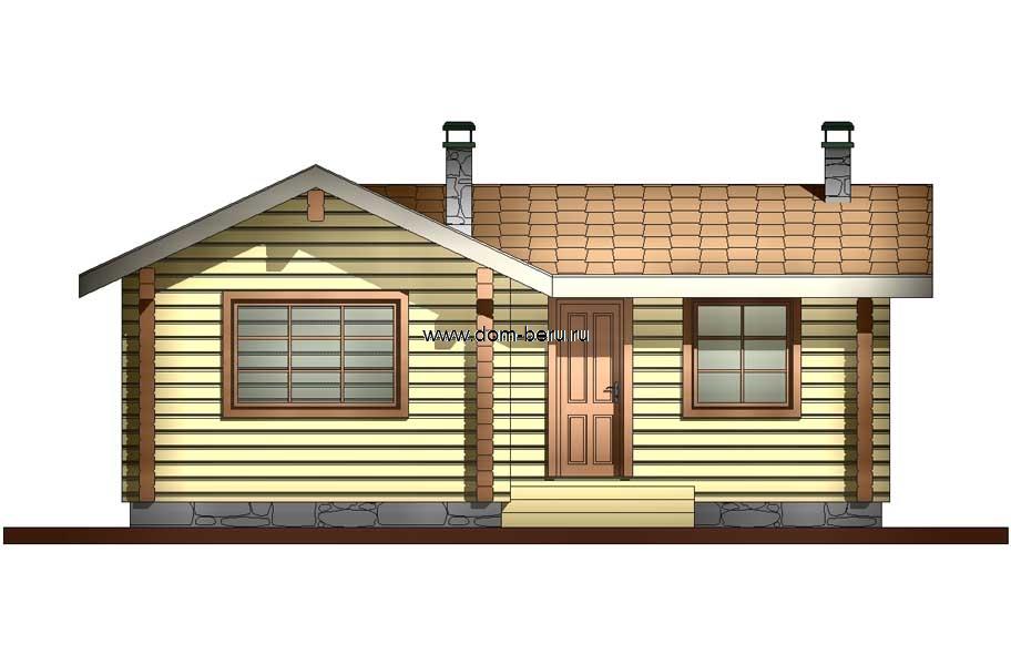Дома деревянные проекты 6х8 [6]