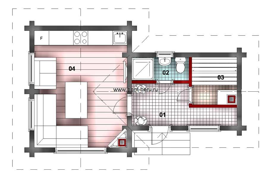 Дома деревянные проекты 6х8 [8]