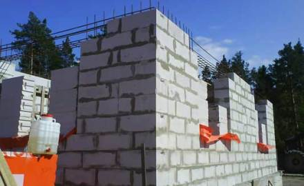 Фото пеноблочного строительства