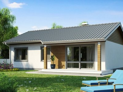Проект недорогого одноэтажного дома [1]