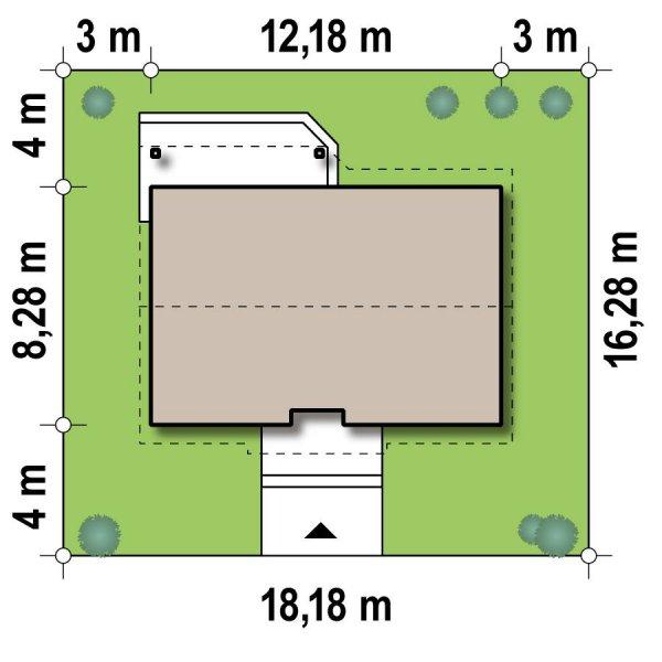 Проект недорогого одноэтажного дома [10]
