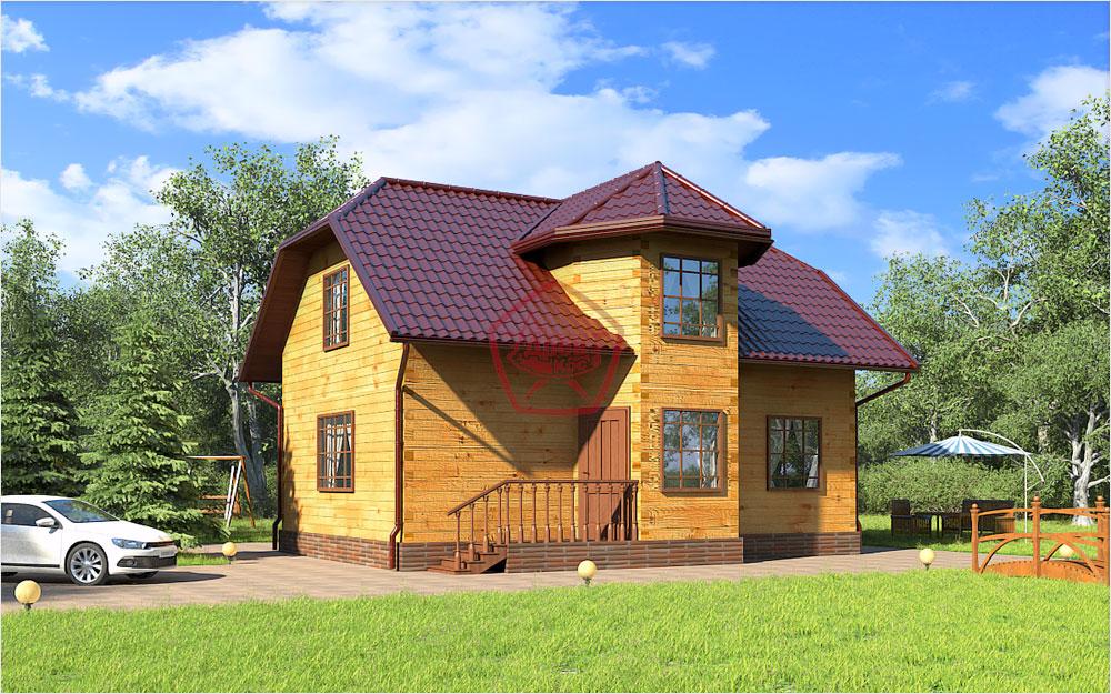 проект одноэтажного дома 6х9