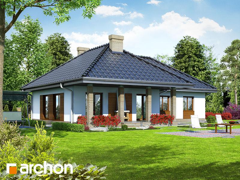 проект одноэтажного углового дома [2]