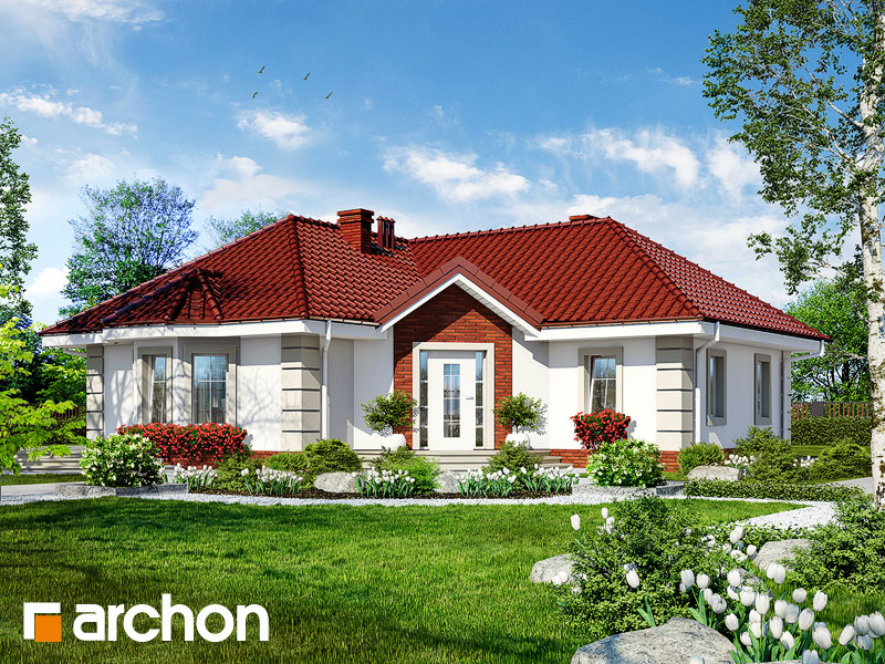 Проект одноэтажного углового дома 3