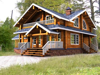 Проекты деревянных домов фото цены [1]