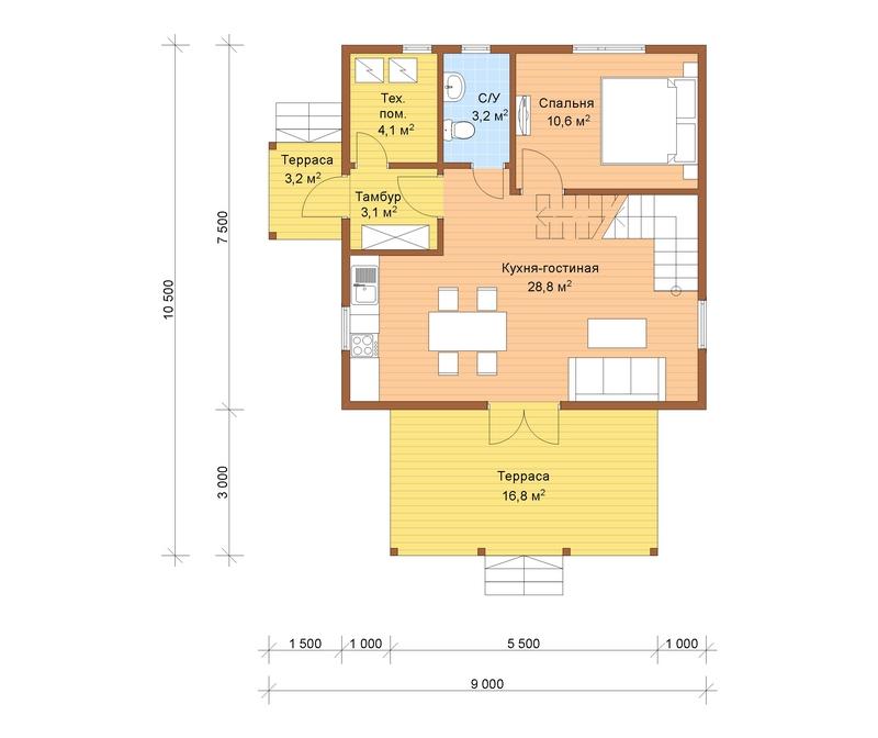 проекты домов из осб