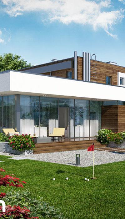 Проекты домов с прямой крышей [6]