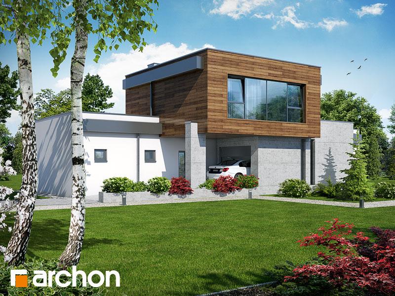 Проекты домов с прямой крышей [8]