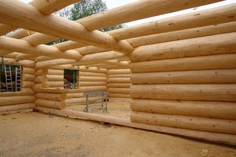 Как построить дом из бревна своими руками