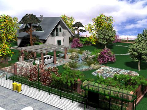 Ландшафтный дизайн дачного дома