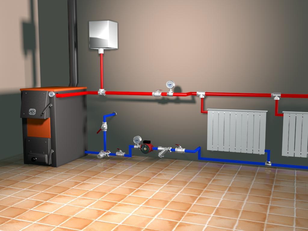 Монтаж системы отопления дома своими руками монтаж