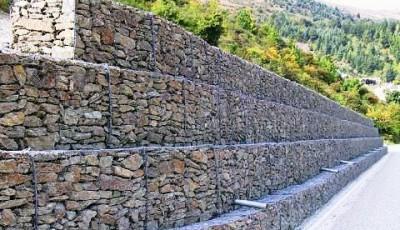 Подпорные стены из габионов
