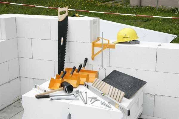Инструменты для кладки газобетона