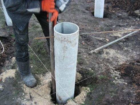 Монтаж трубы для фундамента