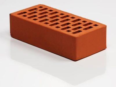 Облицовочный кирпич Браер Front Brick гладкий красный 1NF