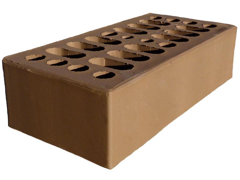 Облицовочный кирпич КЕРМА шоколад гладкий 1НФ