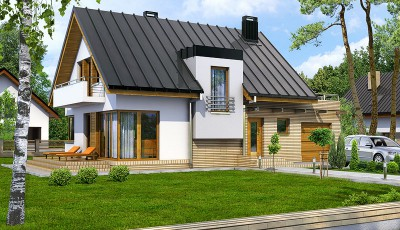 Проекты домов с гаражом и мансардой