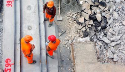 Рабочие на строительном участке