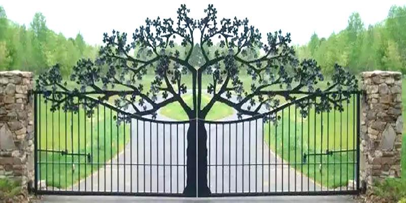 Красивый забор из металла своими руками 74